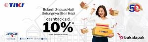 TIKI Berikan Promo Cashback Hingga Gratis Ongkir untuk Pelapak dan Pelanggan Bukalapak Sepanjang Bulan September