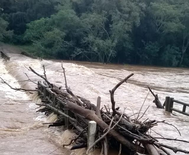 Imagem do dia: Rio Cantu transbordou!