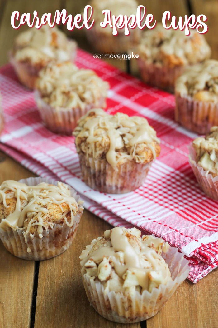 Caramel Apple Cups by Eat Move Make, featured at Knick of Time