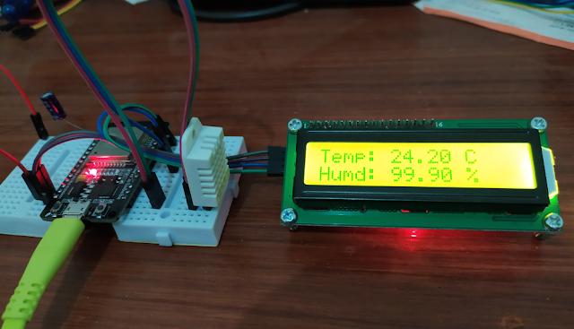ESP32 Temperature monitor