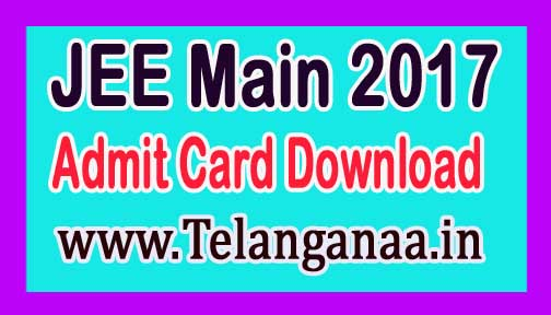 JEE Main 2017 Admit Card Online Download