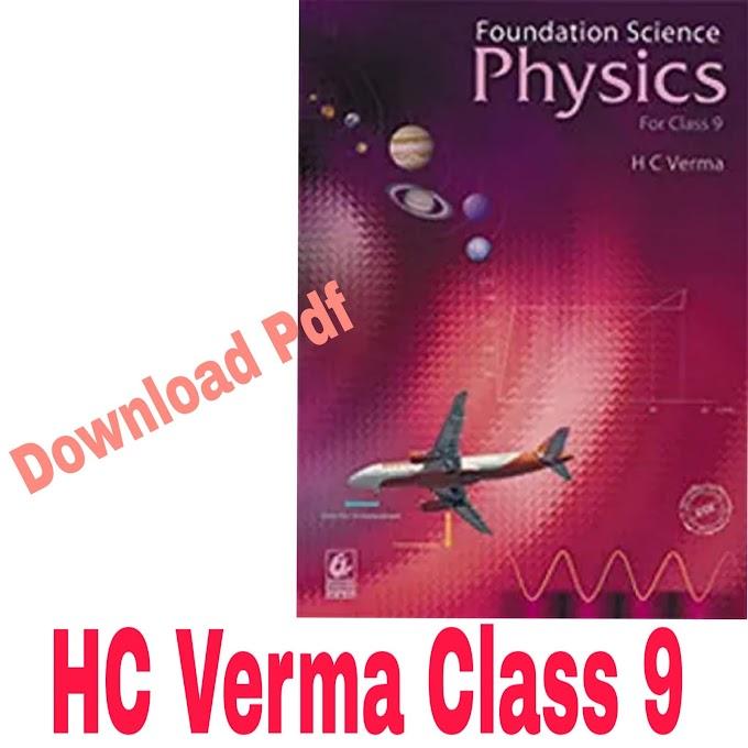 HC Verma  Class 9 Foundation Series download pdf