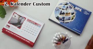 Kalender Custom merupakan salah satu souvenir akhir tahun yang berkesan