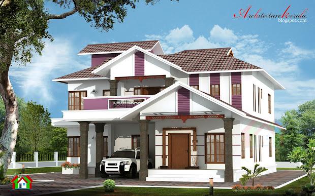 Architecture Kerala 2400 Sq Ft 4 Bhk House Design