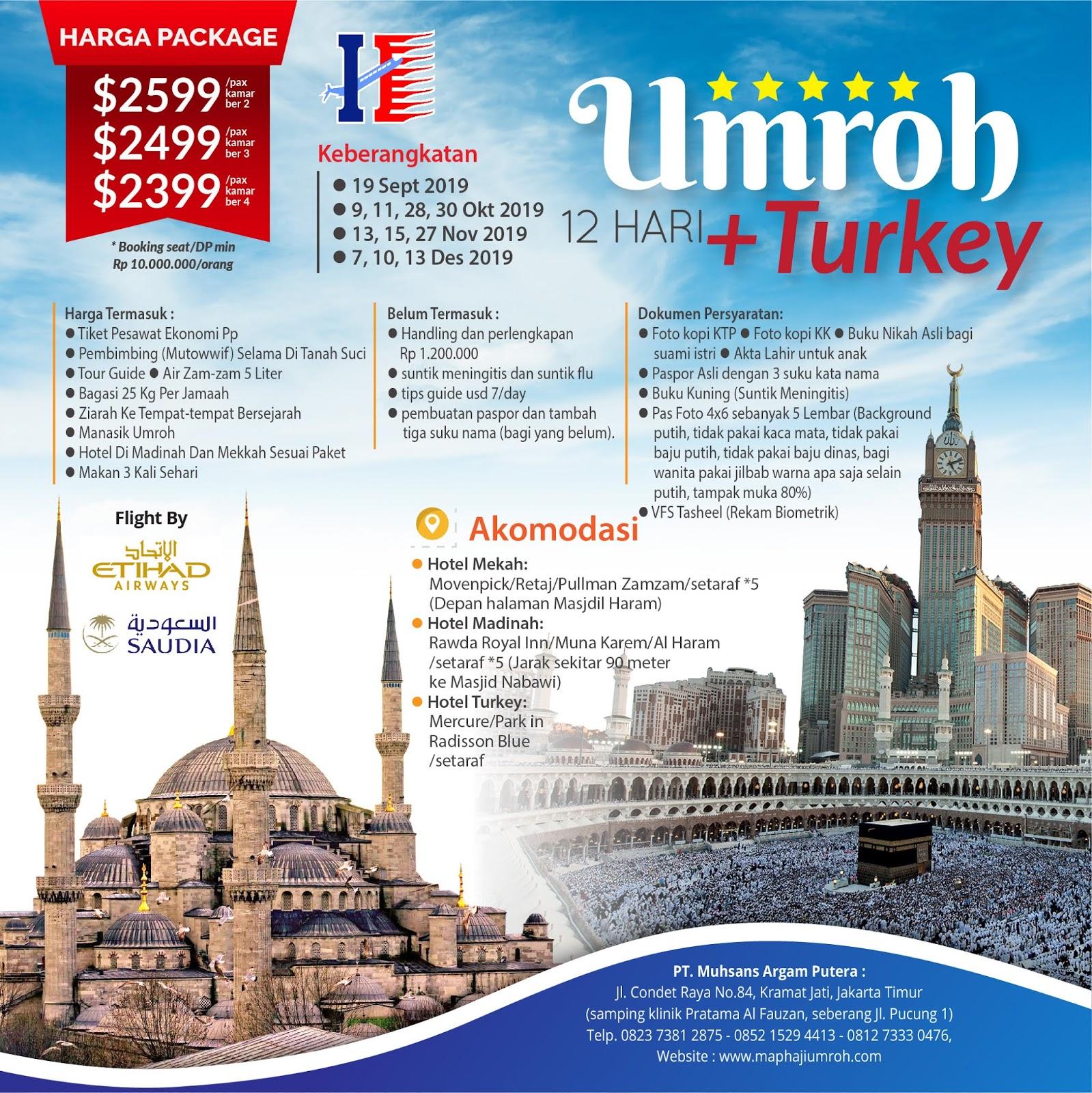 Umroh plus turki map tour.