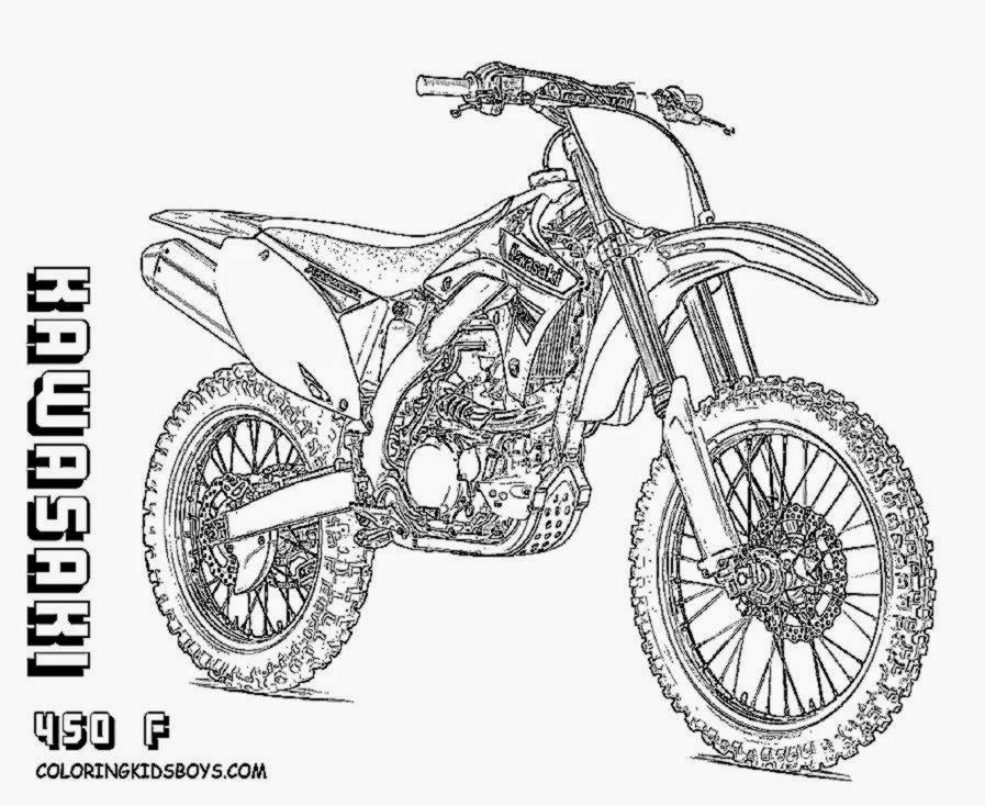 FMX Dirt Bike Coloring  Dirtbikes  Free  Motosports  Dirt Bike