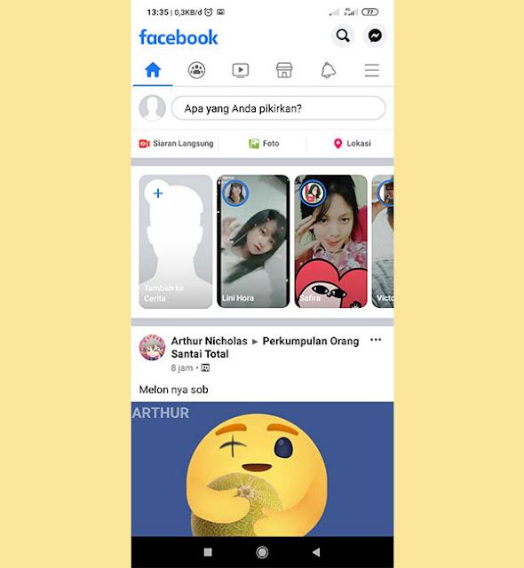 react peduli facebook