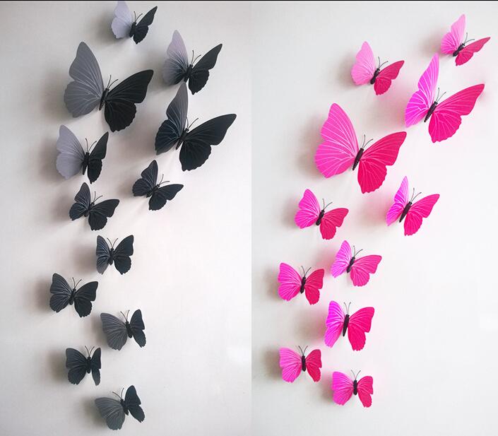 Eu amo artesanato borboletas de papel - Mariposas para pared ...