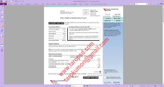 ROCKY MOUNTAIN POWER PDF TEMPLATE