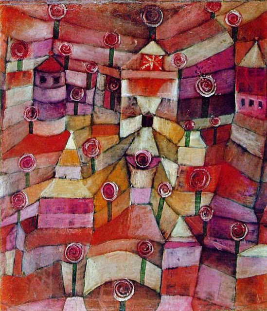 quadro di Paul Klee, Giardino di rose
