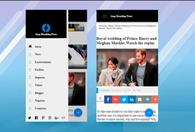 Best Google AMP Blogger Template 2019 + SEO Friendly