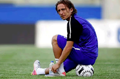 Luka Modric training with Tottenham for the first time 2012-2013 season