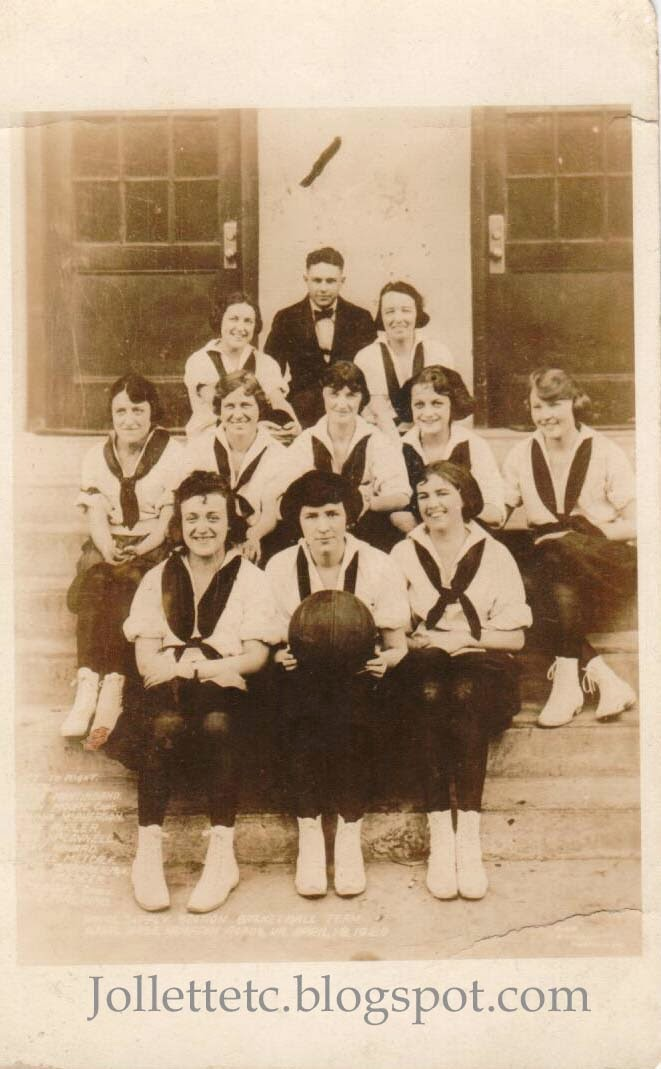 Naval Supply Station Basketball Team 1920  http://jollettetc.blogspot.com