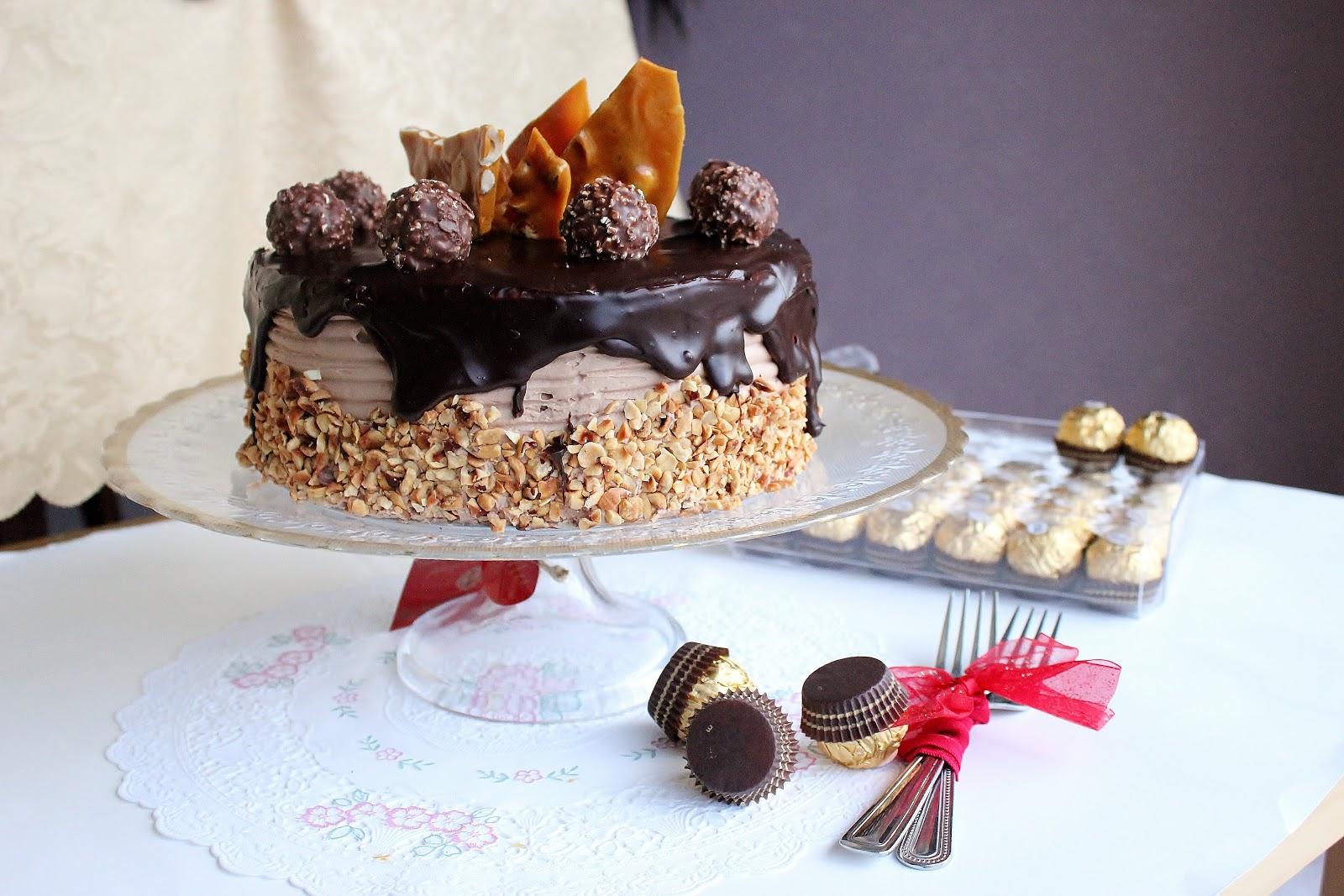 Easy Ferrero Rocher Cake Recipe