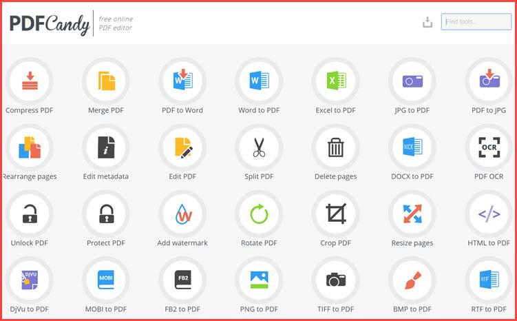 PDF Candy  :  Όλα όσα χρειάζεστε για να επεξεργαστείτε και να μετατρέψετε αρχεία PDF