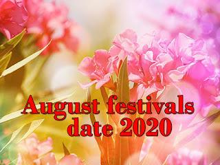 August festivals date 2020