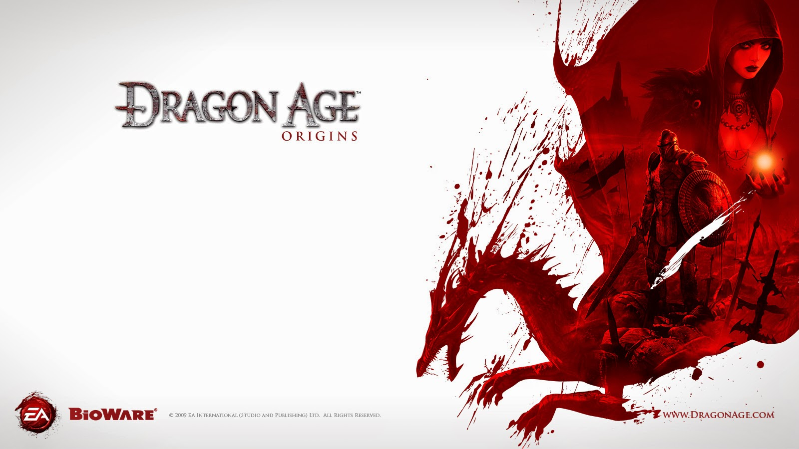Wallpaper Morrigan Dragon Age Origins poster
