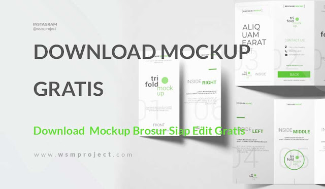 Download  Mockup Brosur