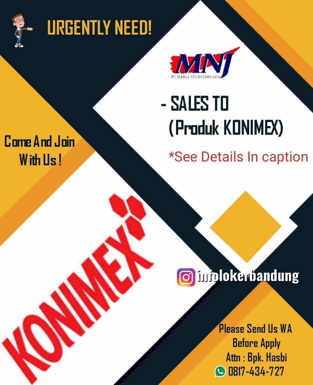 Lowongan Kerja PT. Marga Nusantara Jaya ( Konimex) Bandung Juni 2019
