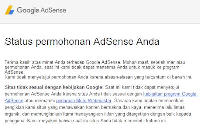 Permohonan program google adsense