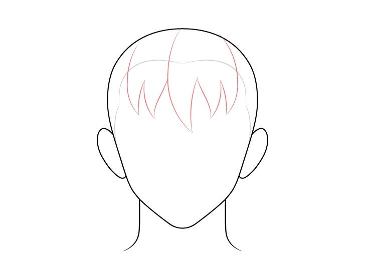 Gambar depan rambut pria anime