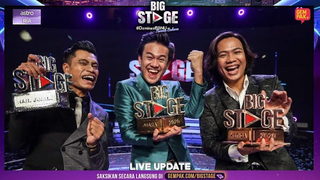 Big Stage 2020, Azzam Sham Juara Big Stage 2020, Usop Naib Juara  Big Stage 2020, Qody Rany, Dinie Rashid, Fadh Majid, Finalis Big Stage 2020, Konsert Akhir Big Stage 2020,
