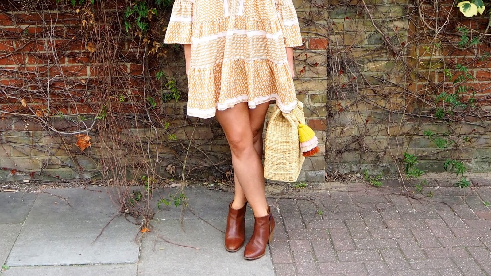 tan Legs in mini dress