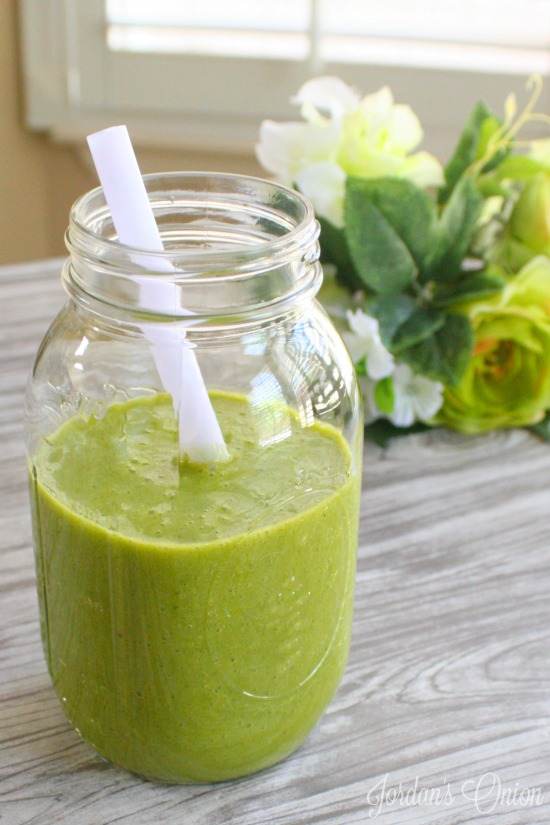 Mango Green Smoothie recipe - a quick, easy, and healthy way to start off your day.