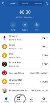Coin swap step 1