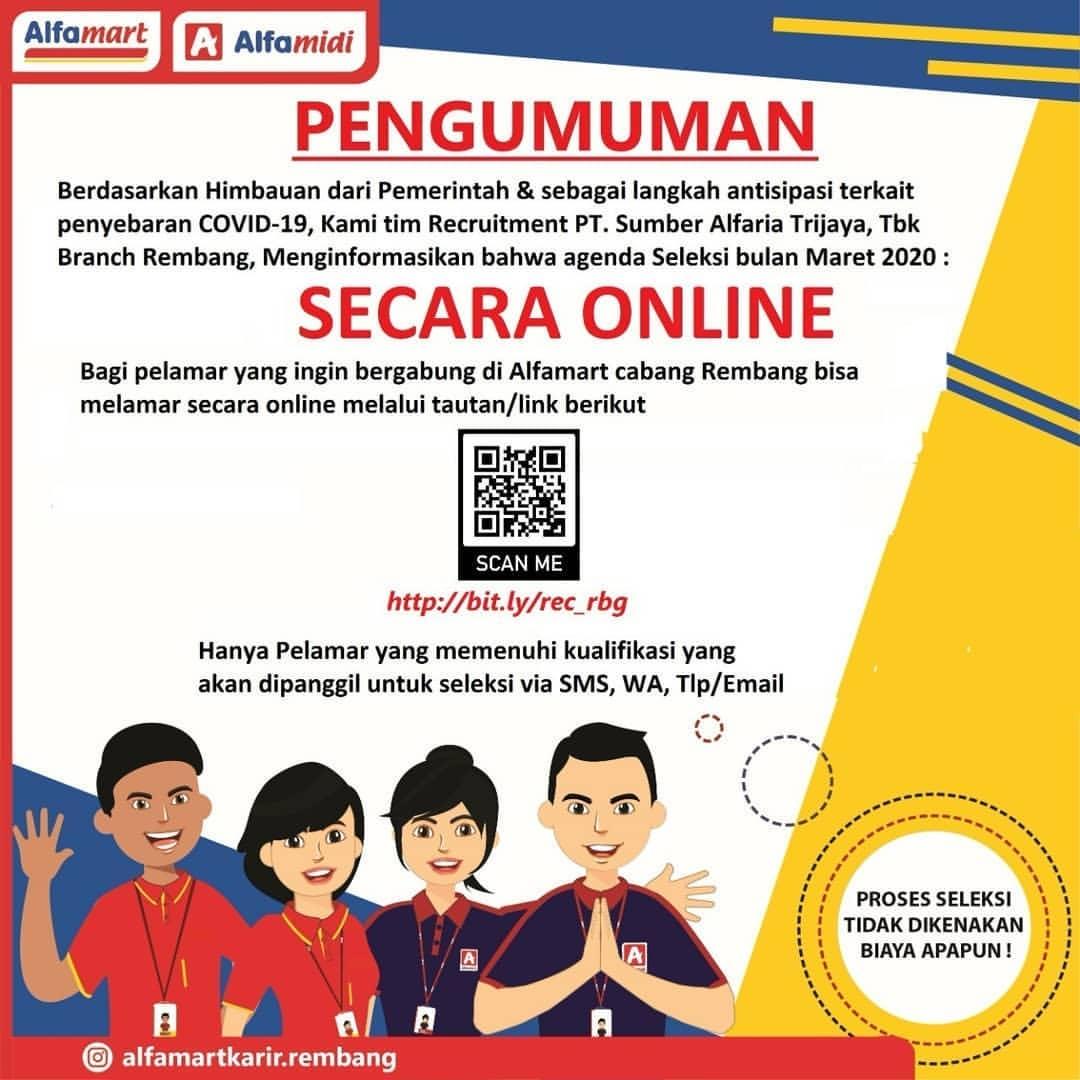 Lowongan Kerja Posisi Personel Administrator PT Sumber Alfaria Trijaya Tbk (Alfamart Rembang) Daftarnya Secara Online