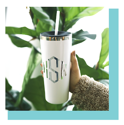Stainless Steel Personalized Monogrammed Cup from Marleylilly.com