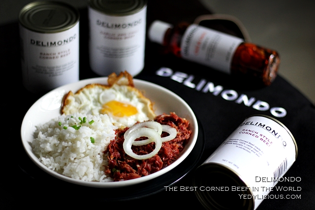 Delimondo Corned Beef PH Delimondo Ranch Style Garlic and Chili Food Products The Best Corned Beef in the World, Delimondo Blog Review Price Makati Where To Buy How To Cook Recipe Facebook Instagram Twitter YedyLicious Manila Food Blog