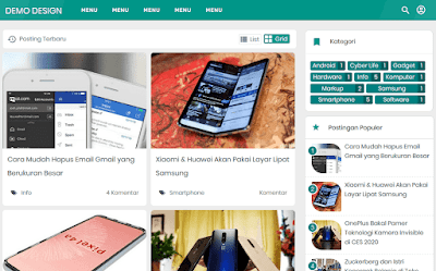 Download VioMagz Versi Igniel Gratis Blogger Responsive