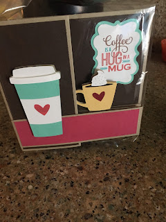 MidnightCrafting birthday card gift card silhouette cameo coffee cup