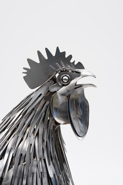 Ed Hill Metal Art - cockerel