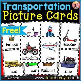 Transportation Flash Cards free download
