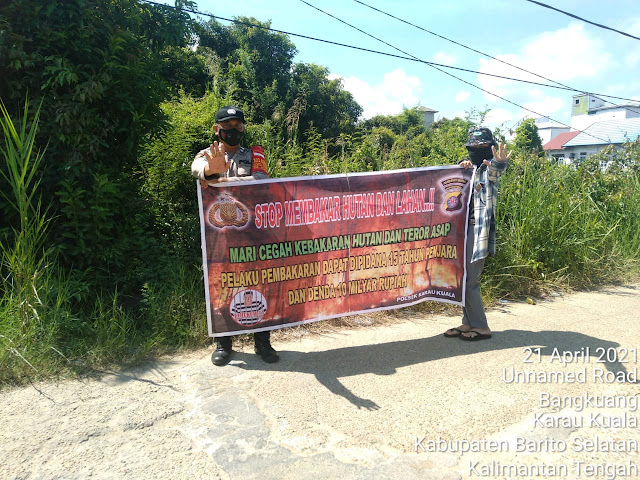 Komitmen Cegah Karhutla, Polsek Karau Kuala Gencarkan Sosialisasi dan Edukasi Kepada Masyarakat