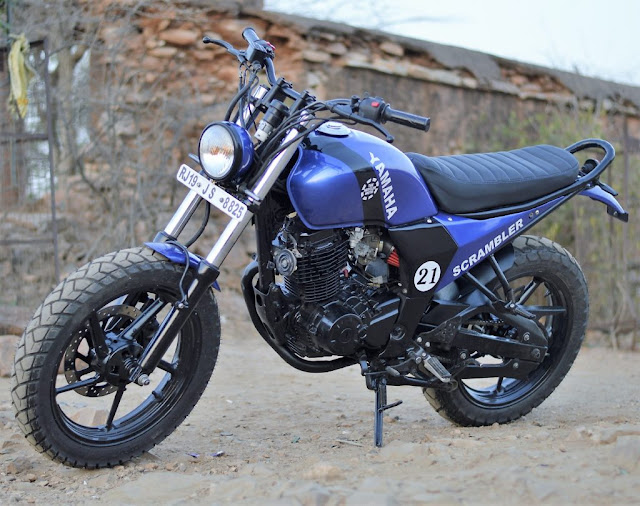 Yamaha FZ Scrambler by Hustler Moto