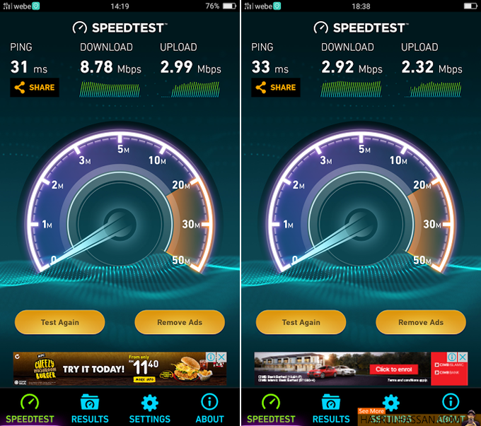 Semak Speed Webe 4G LTE
