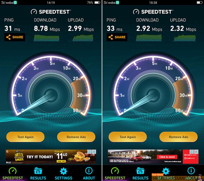 Semak Speed Webe 4G LTE