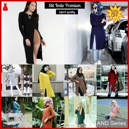 AND087 Sweater Wanita Slit Premium Murah BMGShop