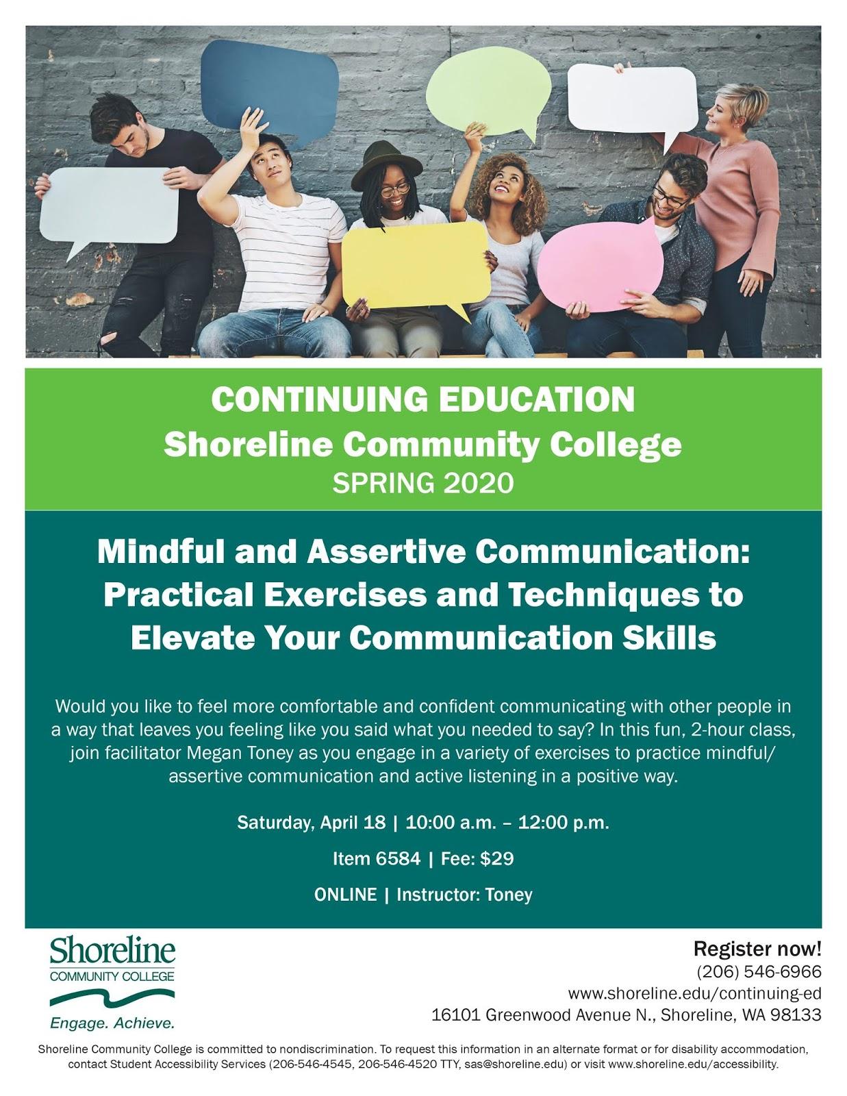 Shoreline Area News Mindful And Assertive Communication