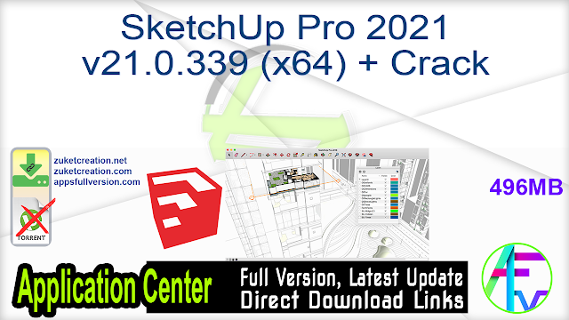 SketchUp Pro 2021 v21.0.339 (x64) + Crack