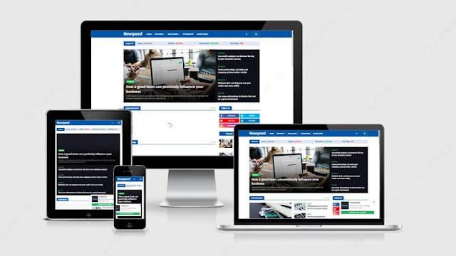 newspeed template blog news gratis