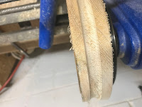 Groove cut into the pulley