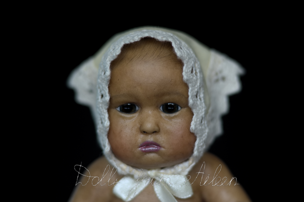 OOAK baby girl doll's face