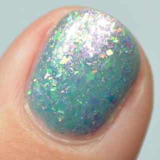 blue jelly flakie nail polish