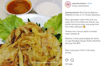 Makanan Melayu Pekanbaru Riau roti cane roti prata india