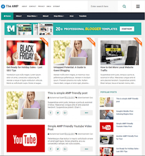 The AMP Responsive Blogger Template
