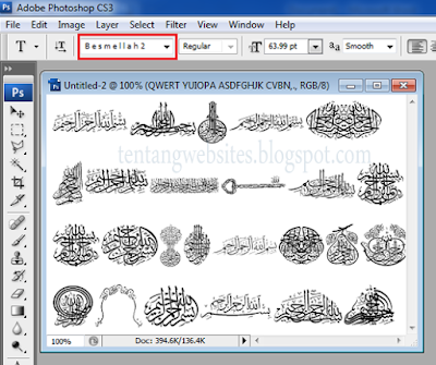 Download font Bismillah untuk photoshop